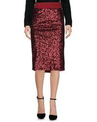 Shirtaporter Knee Length Skirt - Red