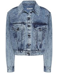 Alice + Olivia Manteau en jean - Bleu