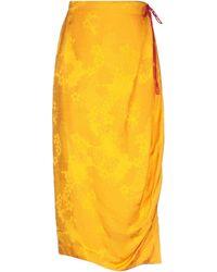 Rosie Assoulin Long Skirt - Orange