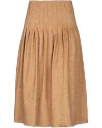 Vilshenko 3/4 Length Skirt - Natural