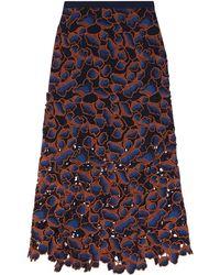 Saloni 3/4 Length Skirt - Blue