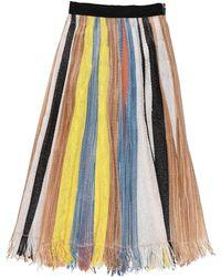 Aviu Midi Skirt - Yellow