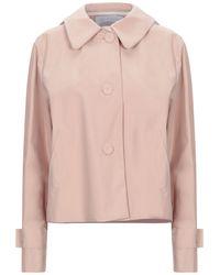 Harris Wharf London Overcoat - Pink