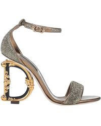 Dolce & Gabbana Sandals - Metallic