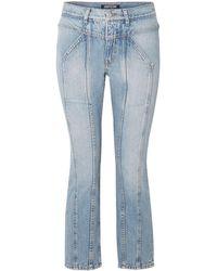 Adaptation 'Rider' Cropped-Jeans - Blau