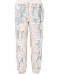 retroféte Pantalon - Blanc
