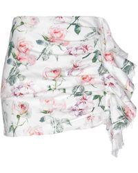 Laneus Denim Skirt - White