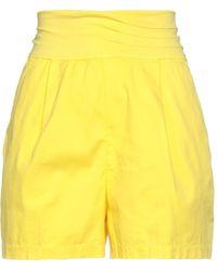 European Culture Shorts & Bermuda Shorts - Yellow