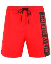 Calvin Klein Boxer da mare - Rosso
