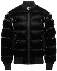 DIESEL Synthetic Down Jacket - Black