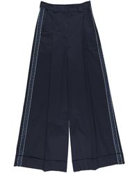 Zeus+Dione Casual Trouser - Blue