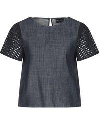 Emporio Armani Camicia jeans - Blu