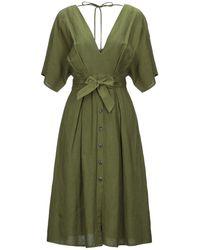 Silvian Heach Knielanges Kleid - Grün
