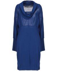 22 Maggio By Maria Grazia Severi Midi Dress - Blue
