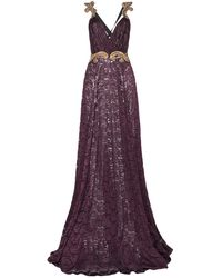 Christian Pellizzari Long Dress - Purple
