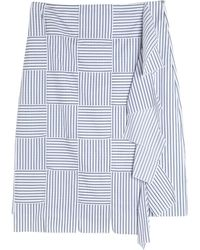 Victoria, Victoria Beckham Knee Length Skirt - Blue