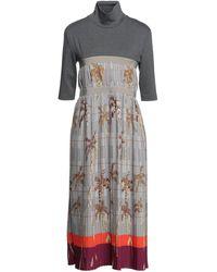 Stella Jean Midi Dress - Grey
