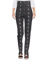 Sara Battaglia Denim Pants - Black