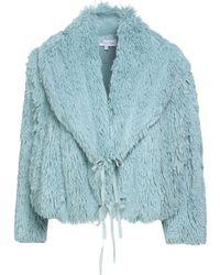 Patrizia Pepe Teddy Coat - Blue