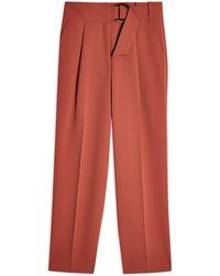 TOPSHOP Casual Trouser - Red