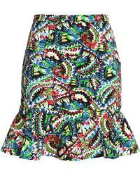 Saloni Knee Length Skirt - Blue