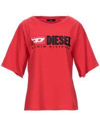 DIESEL Camiseta - Rojo