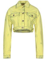 Versace Manteau en jean - Jaune