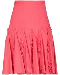 Maria Grazia Severi Midi Skirt - Red