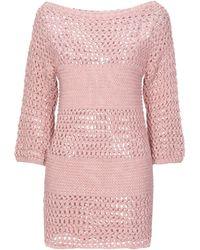 Carla G Short Dress - Pink