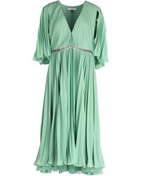 Halston 3/4 Length Dress - Green