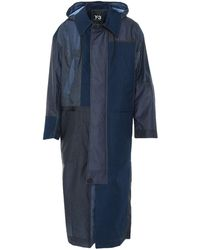 Y-3 Overcoat - Blue