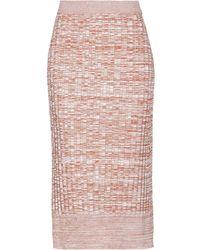 Jil Sander Navy 3/4 Length Skirt - Brown