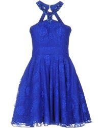 Forever Unique Short Dress - Blue