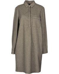 Peuterey Short Dress - Brown