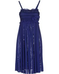 Scee By Twin-set Short Dress - Blue