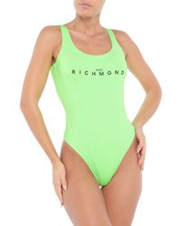 John Richmond One-piece Swimsuit - Green