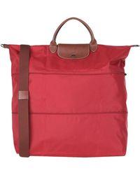 Longchamp Travel Duffel Bag - Red