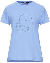 Karl Lagerfeld T-shirts - Blau