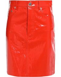 Helmut Lang Knee Length Skirt - Red