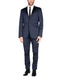 Grey Daniele Alessandrini Suit - Blue