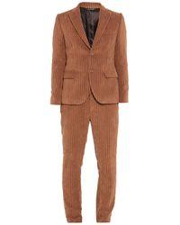 Grey Daniele Alessandrini Suit - Brown