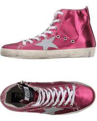 Golden Goose Deluxe Brand Sneakers abotinadas - Morado