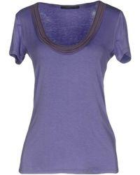 Les Copains T-shirt - Purple
