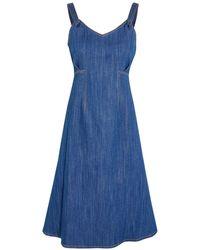 Adam Lippes Knee-length Dress - Blue