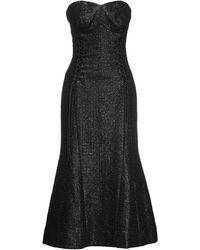 Olivier Theyskens 3/4 Length Dress - Black