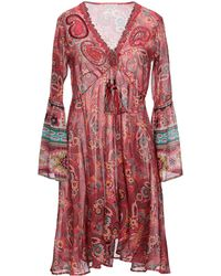 Anjuna Knee-length Dress - Red