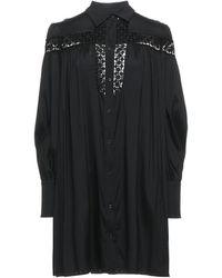 Aglini Kurzes Kleid - Schwarz