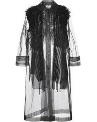 Noir Kei Ninomiya Overcoat - Black