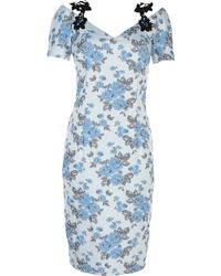 Class Roberto Cavalli Knee-length Dress - Blue