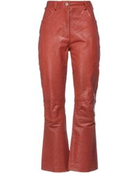 Cedric Charlier Trousers - Red